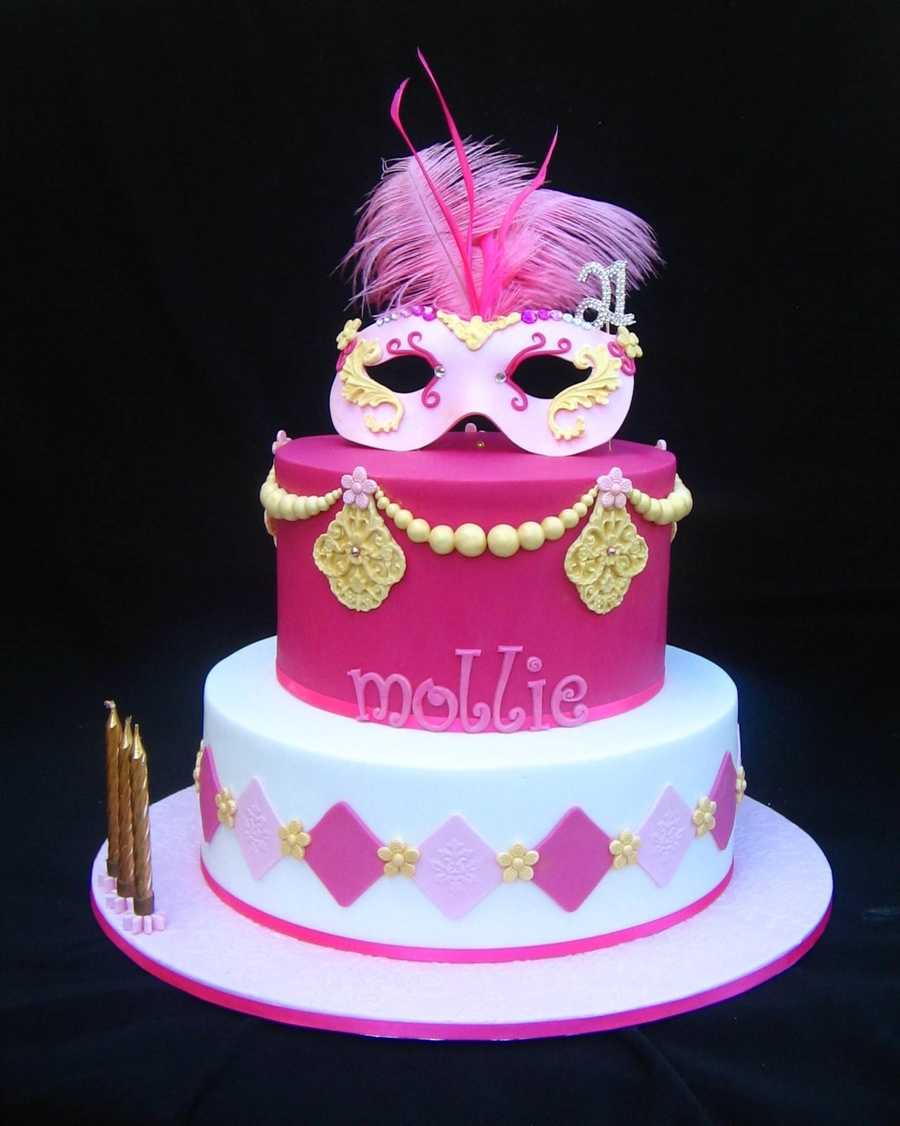 Mollie's Masquerade Cake on Cake Central