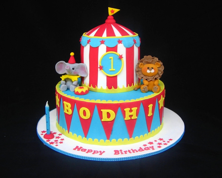 Bodhi's Circus Cake on Cake Central