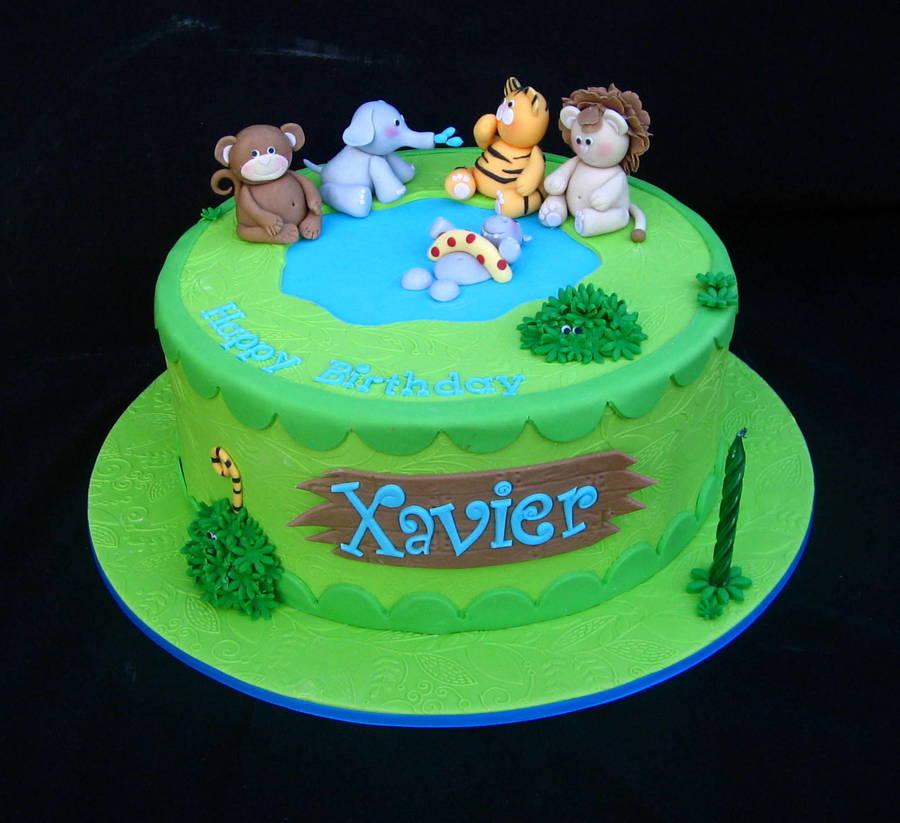 Xaviers 1St Birthday CakeCentralcom