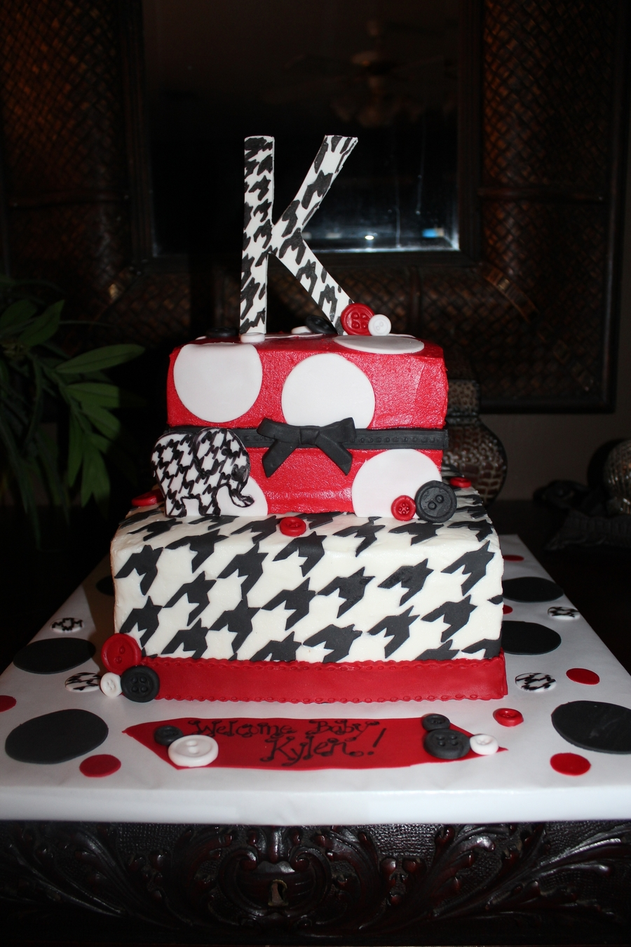 Houndstooth Bama Baby Shower on Cake Central