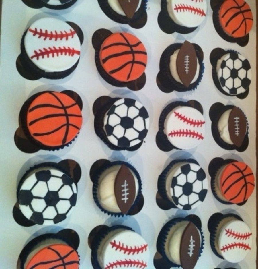Sports Themed Cupcake Toppers on Cake Central