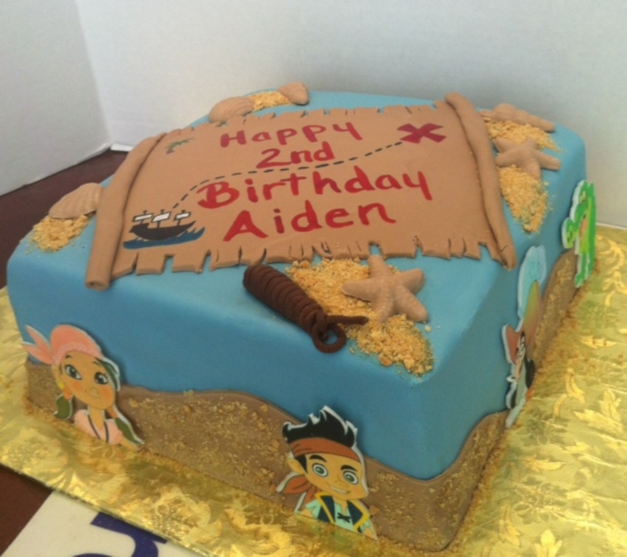 Jake And The Neverland Pirate Cake Disney on Cake Central