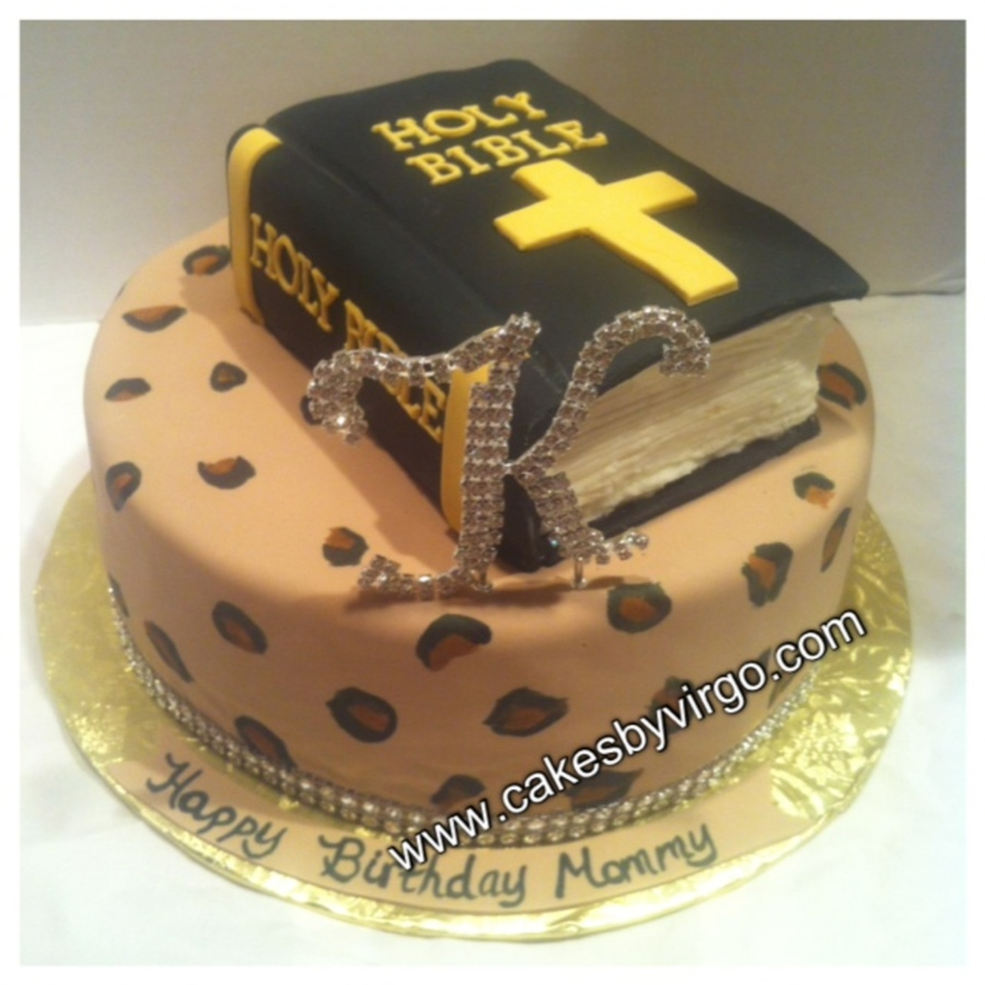 Cheetah Print Cake With Bible on Cake Central