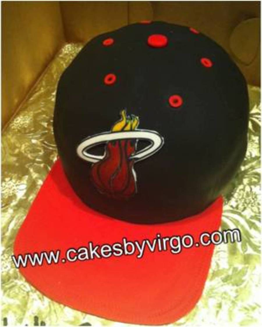 Miami Heat Basketball Cap on Cake Central
