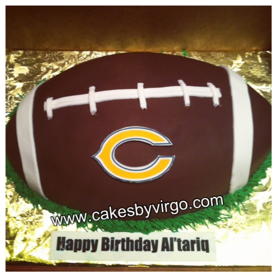 Chicago Bears Football Cake on Cake Central