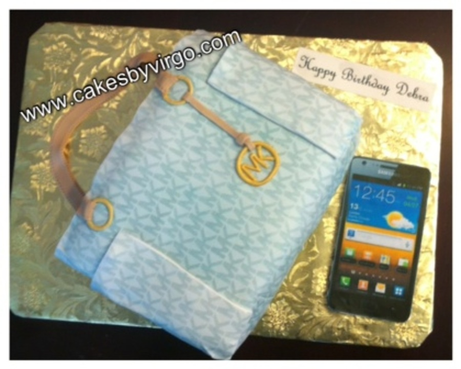 Michael Kors Bag And Cell Phone on Cake Central