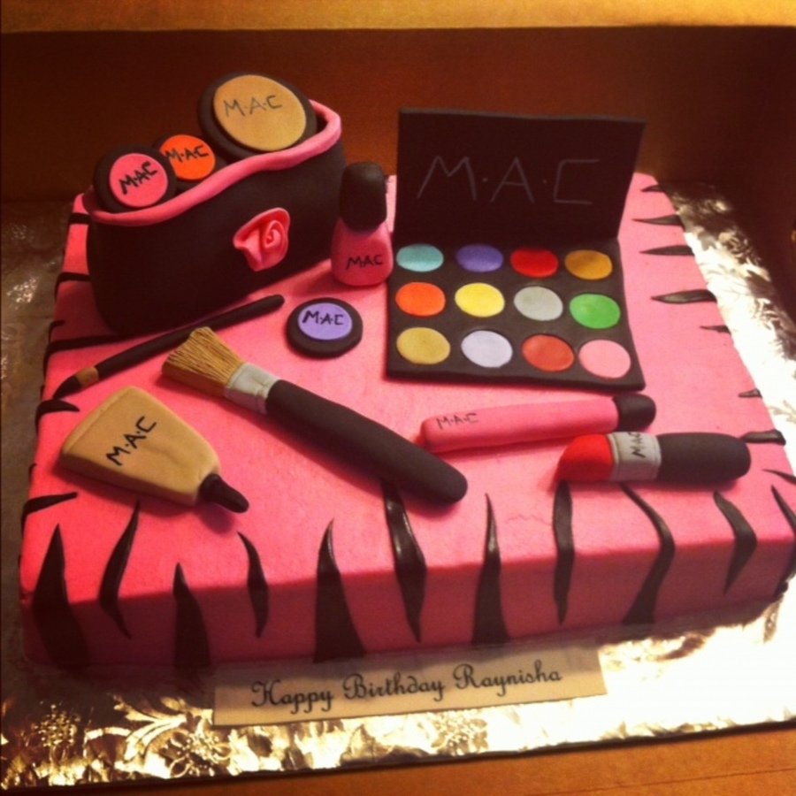 Mac Makeup Cake With Zebra Print Stripes on Cake Central