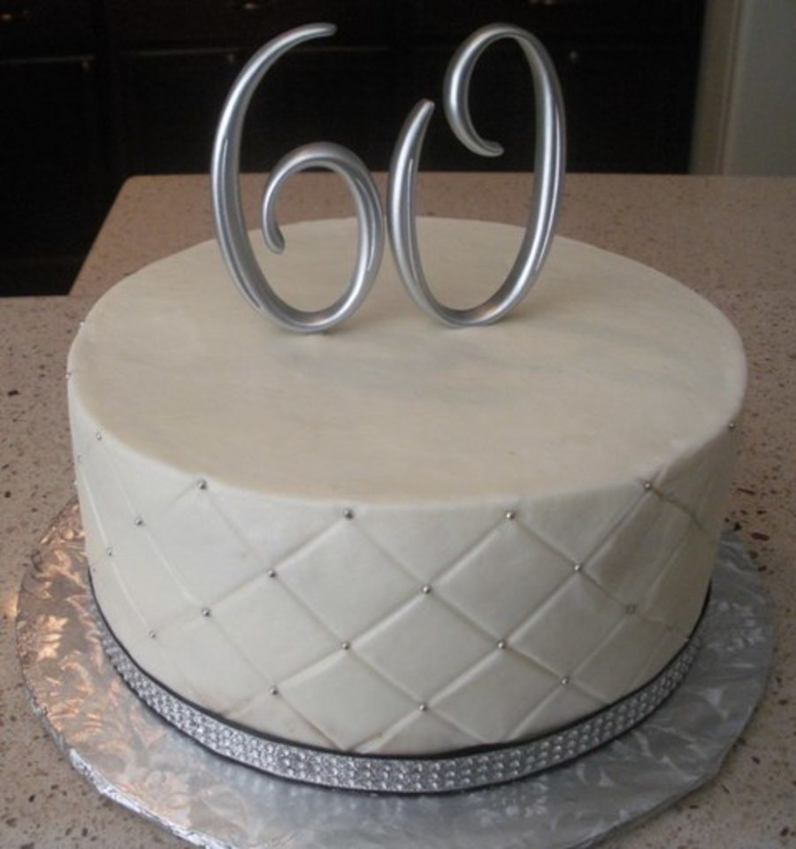 60Th Bling Anniversary Cake on Cake Central