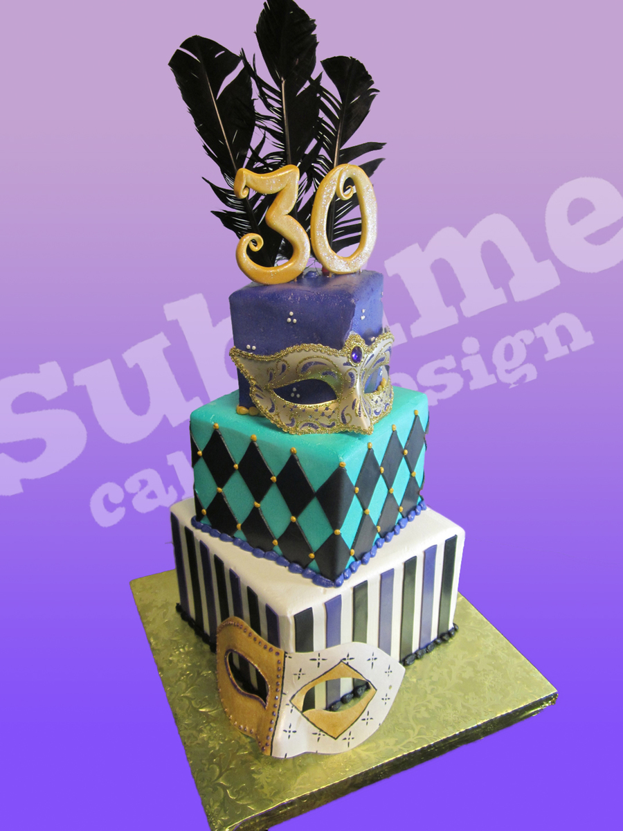 Masquerade Themed Cake on Cake Central