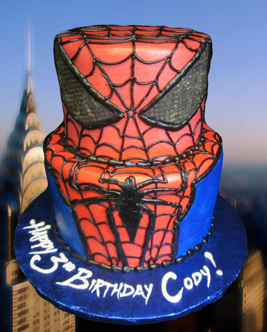 Ultimate Spiderman Cake  on Cake Central