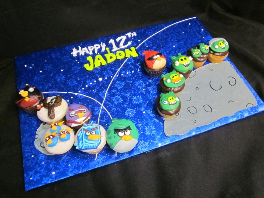 Angry Birds Space Cupcakes on Cake Central