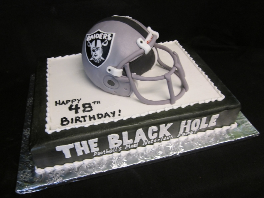 Raiders Helmet Cake on Cake Central