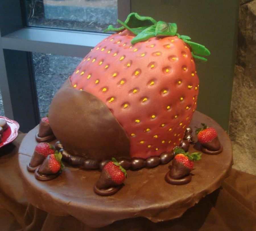 Huge Strawberry! on Cake Central