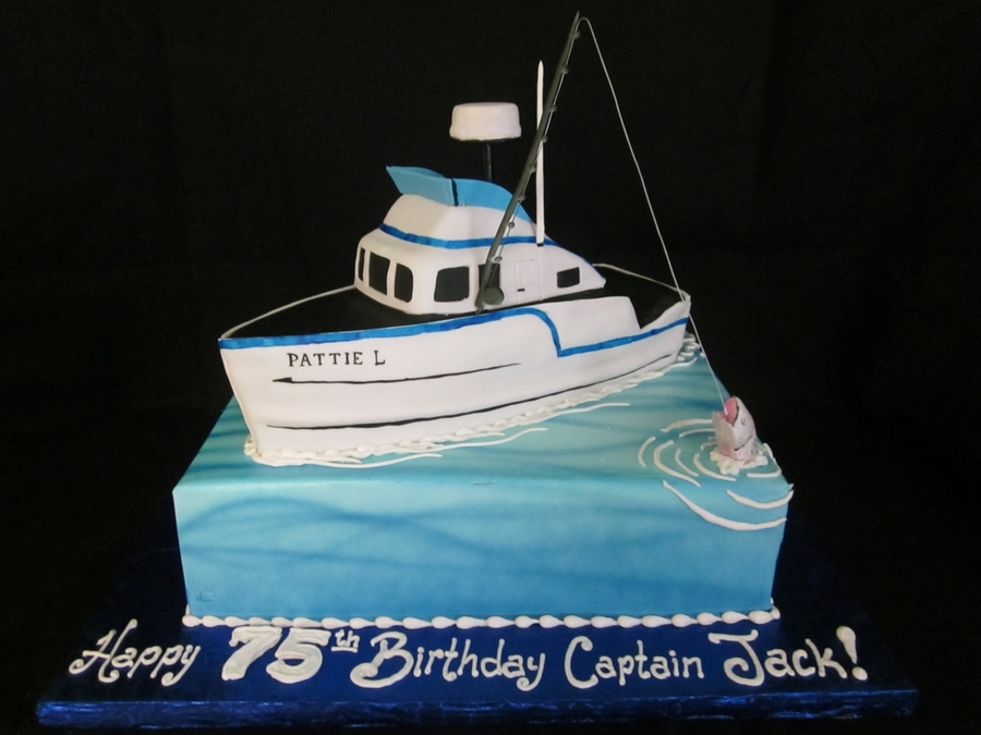 Fishing Boat Cake Cakecentral Com