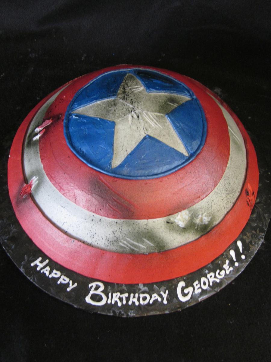 Captain America Shield CakeCentralcom