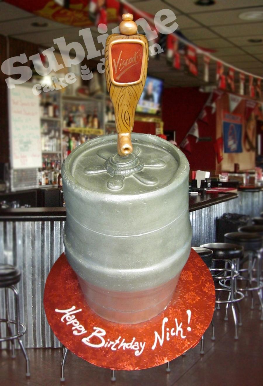 Beer-Flavored Keg Cake! - CakeCentral.com