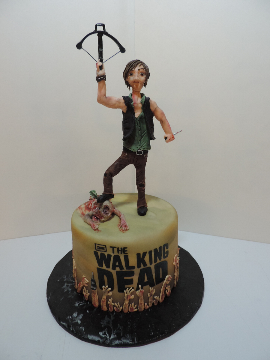 walking dead birthday cake the walking dead s daryl dixon cake cakecentral 8345