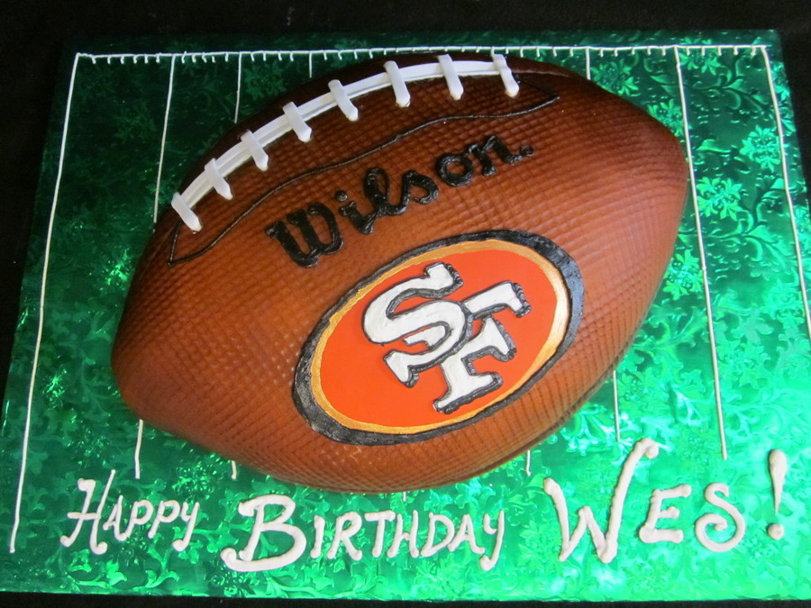 49Ers Football Cake on Cake Central