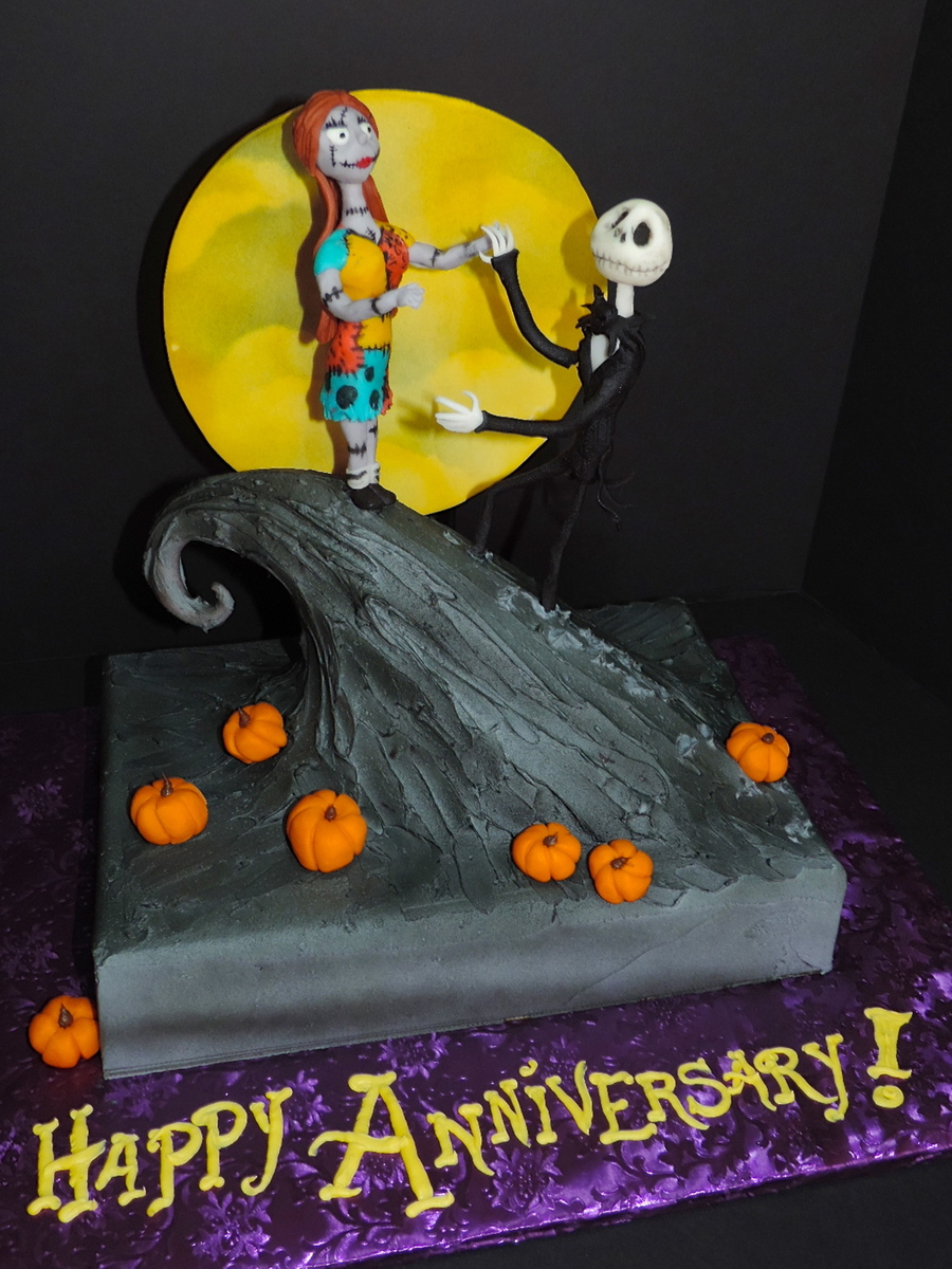 The nightmare before christmas soundtrack jack and sally cake ...