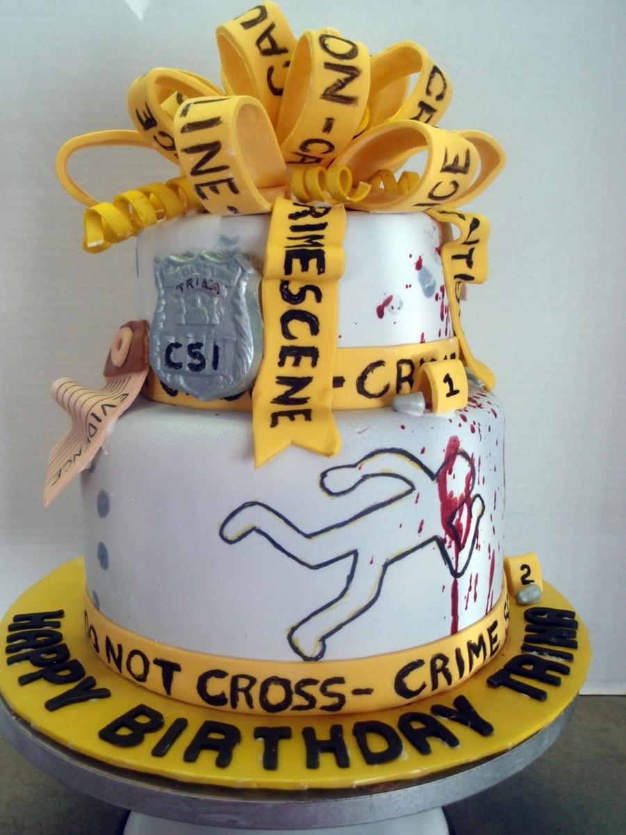 Crime Scene Cake Ideas