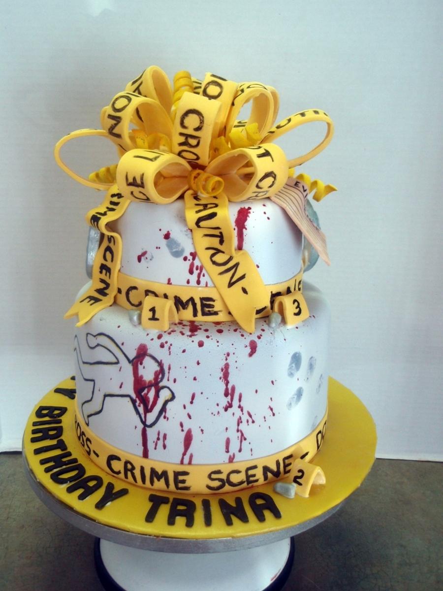 Csi Crime Scene Birthday Cake Cakecentral Com