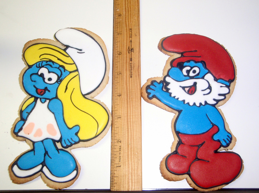Oversized Smurf Cookies on Cake Central