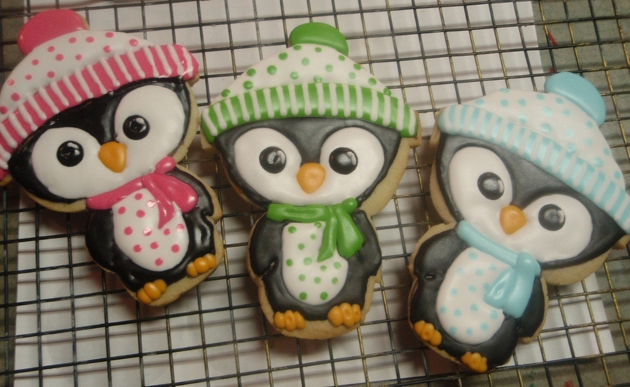 Cute Penguin Cookies  on Cake Central
