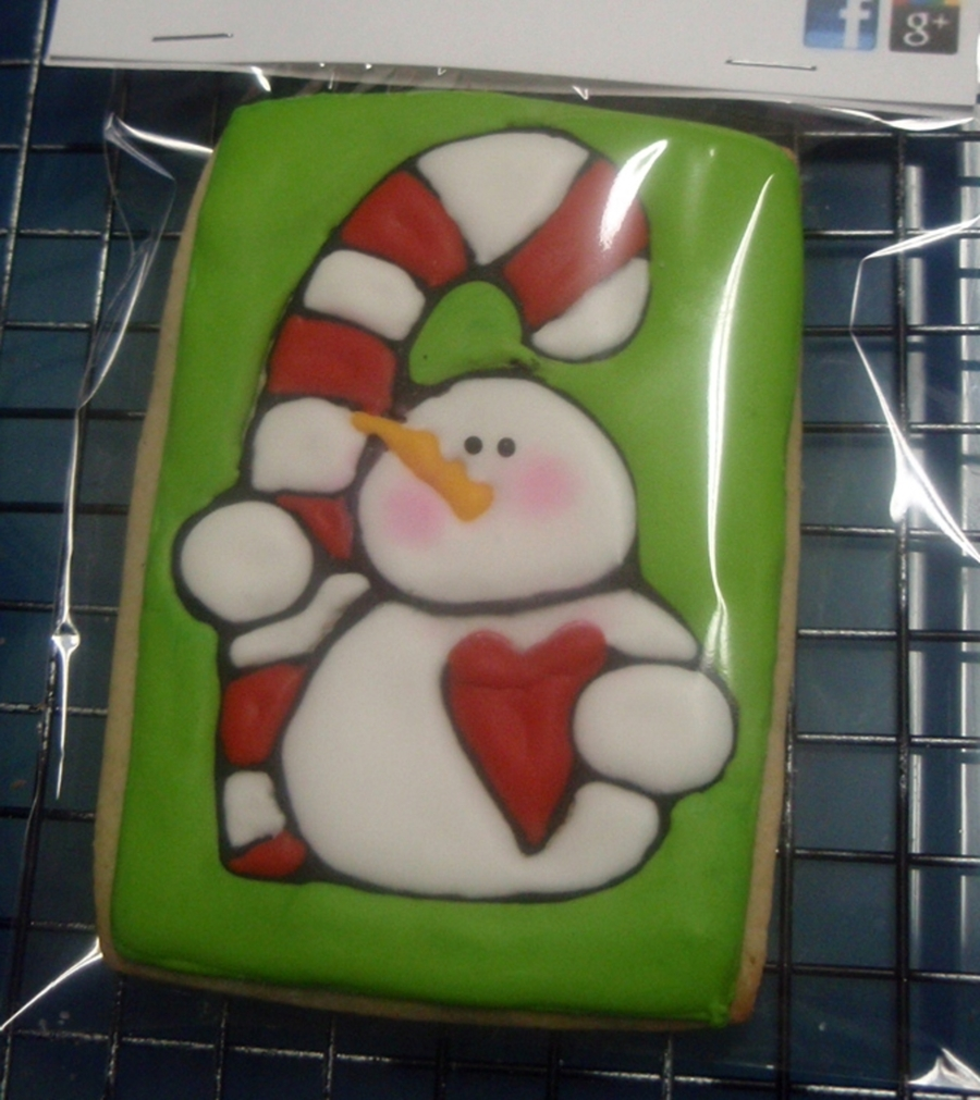 Snowman Cookie on Cake Central