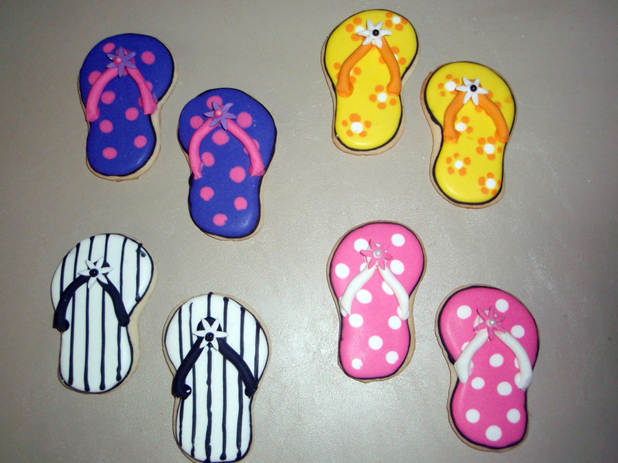 Flip Flop Cookies on Cake Central