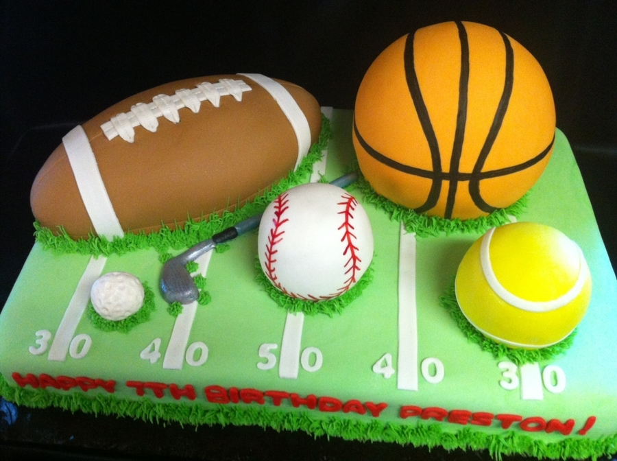 Sports Ball Cake on Cake Central