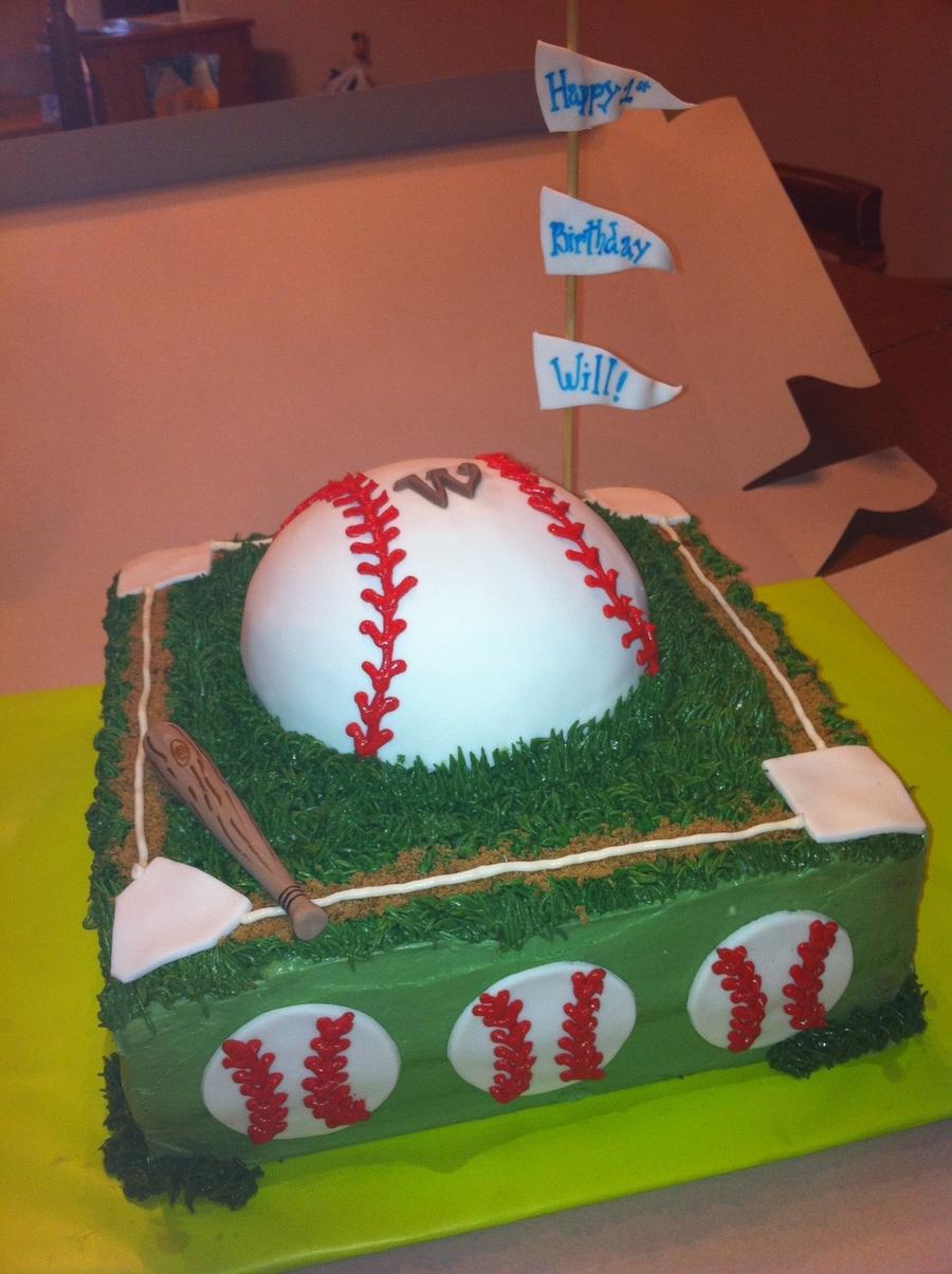 Awesome Baseball Themed Birthday Cake Cakecentral Com Funny Birthday Cards Online Necthendildamsfinfo