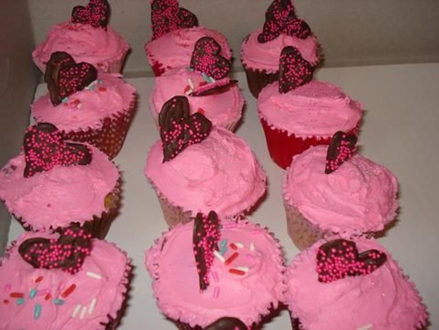 Heart Cupcakes on Cake Central