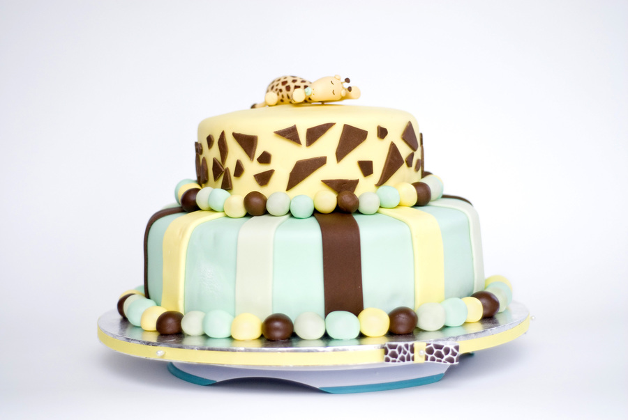 A Sweet Sleeping Baby Giraffe on Cake Central