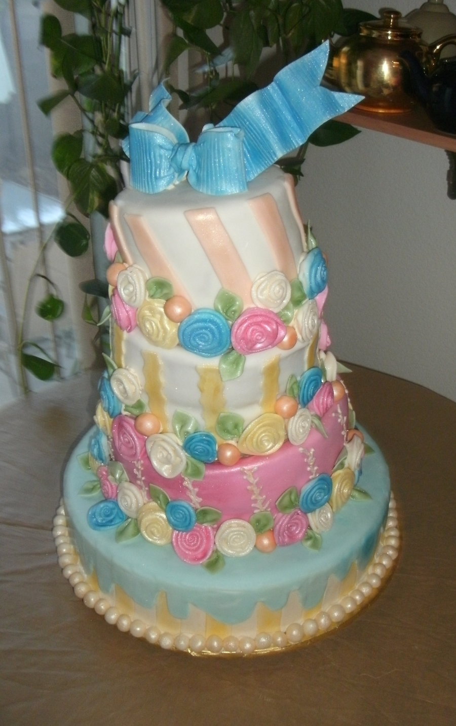 Whimsy Colored Cake on Cake Central