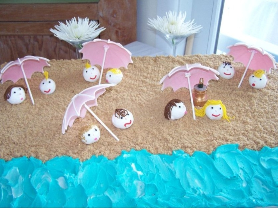 Beach Cake Pops on Cake Central
