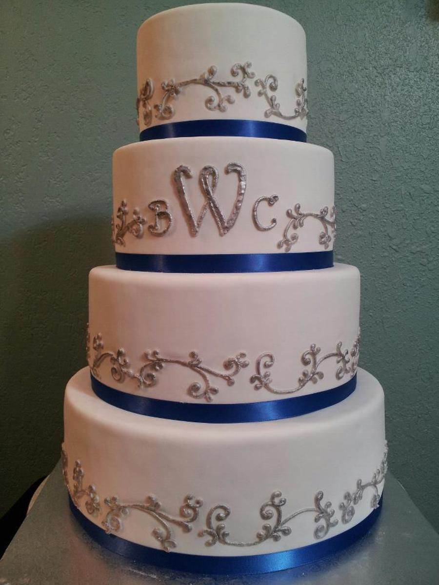 blue and silver wedding cake ideas ombre pink cake cakecentral 11960