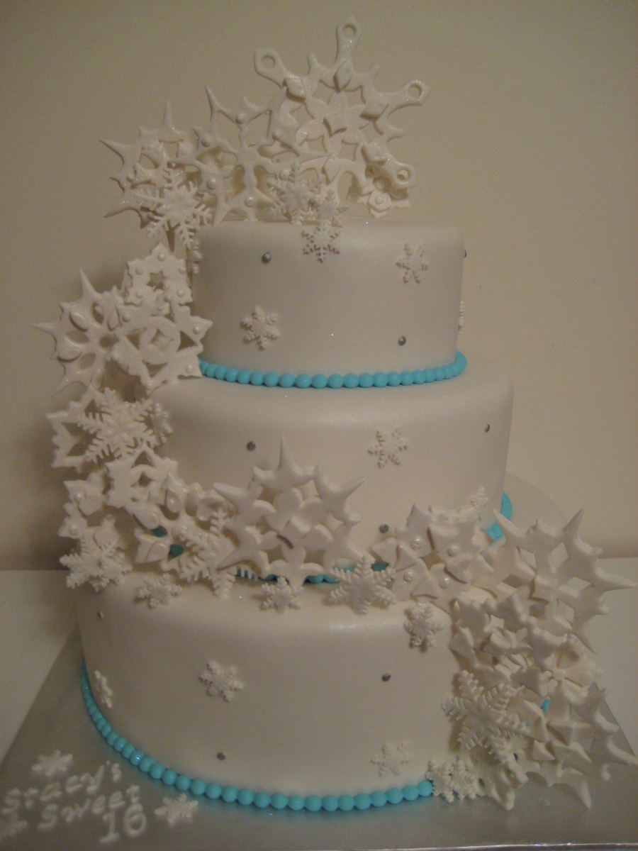 Sweet 16 Winter Wonderland Cakecentral Com