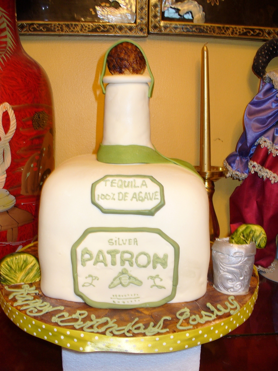 Patron And Shot Glass Cake on Cake Central