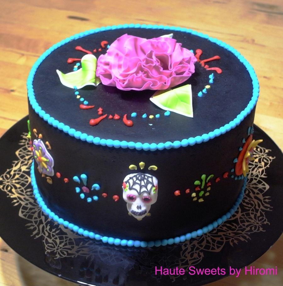 Dia De Los Muertos Day Of The Dead Birthday Cake Cakecentral