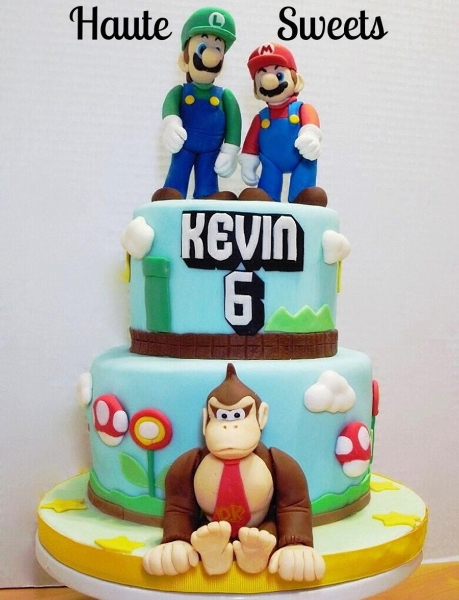 Fine Super Mario Bros And Donkey Kong Birthday Cake Cakecentral Com Personalised Birthday Cards Akebfashionlily Jamesorg