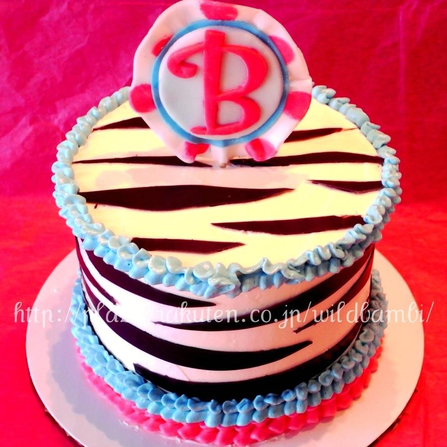 Zebra Print Mini Birthday Cakes