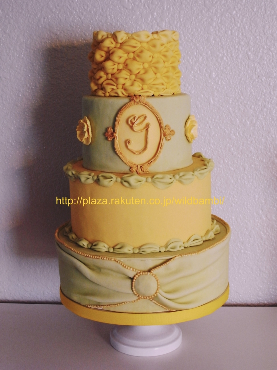 Lime, Yellow And Gold  on Cake Central
