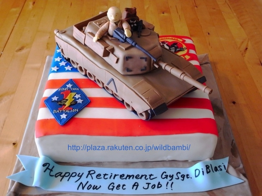 A1-M1 Abrams Retirement Cake on Cake Central