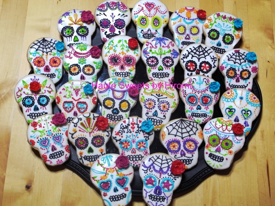 Dia De Los Muertos Day Of The Dead Cookies on Cake Central