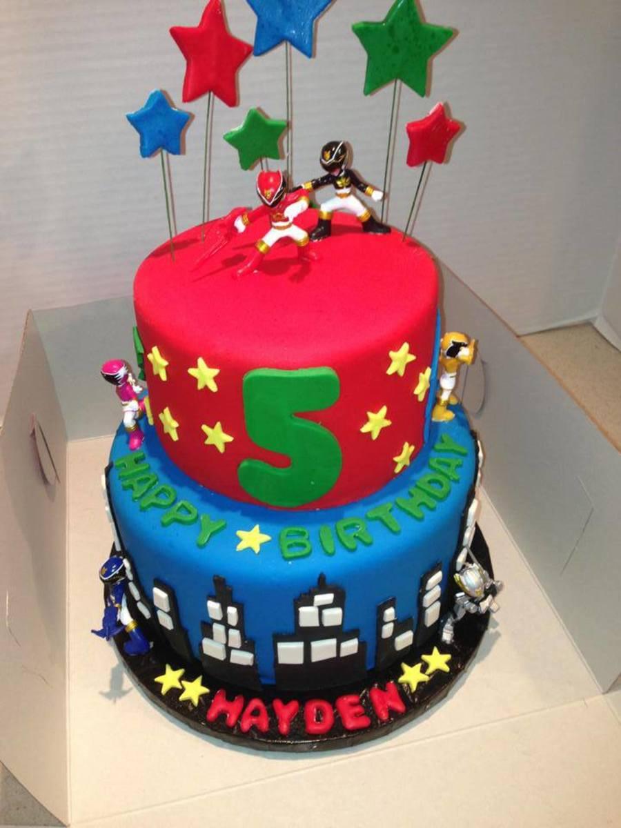 Power Ranger Birthday Cake Cakecentral