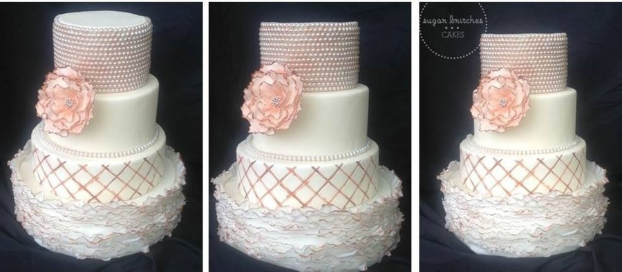 Peal Wedding Cake on Cake Central