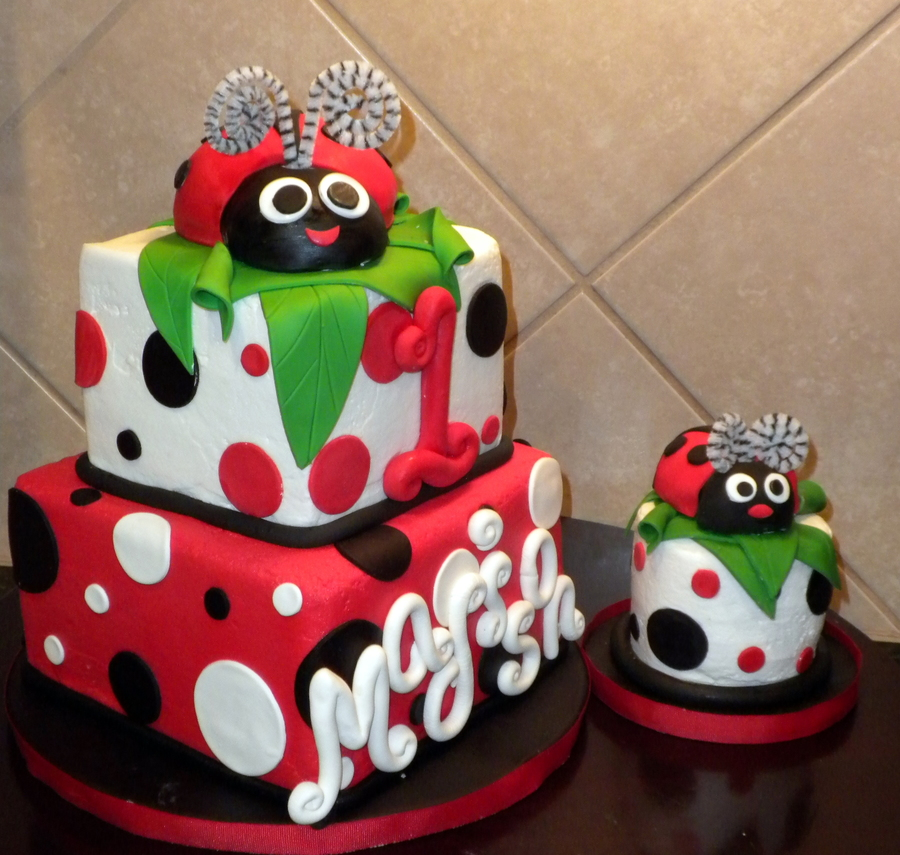 First Birthday Lady Bug - CakeCentral.com