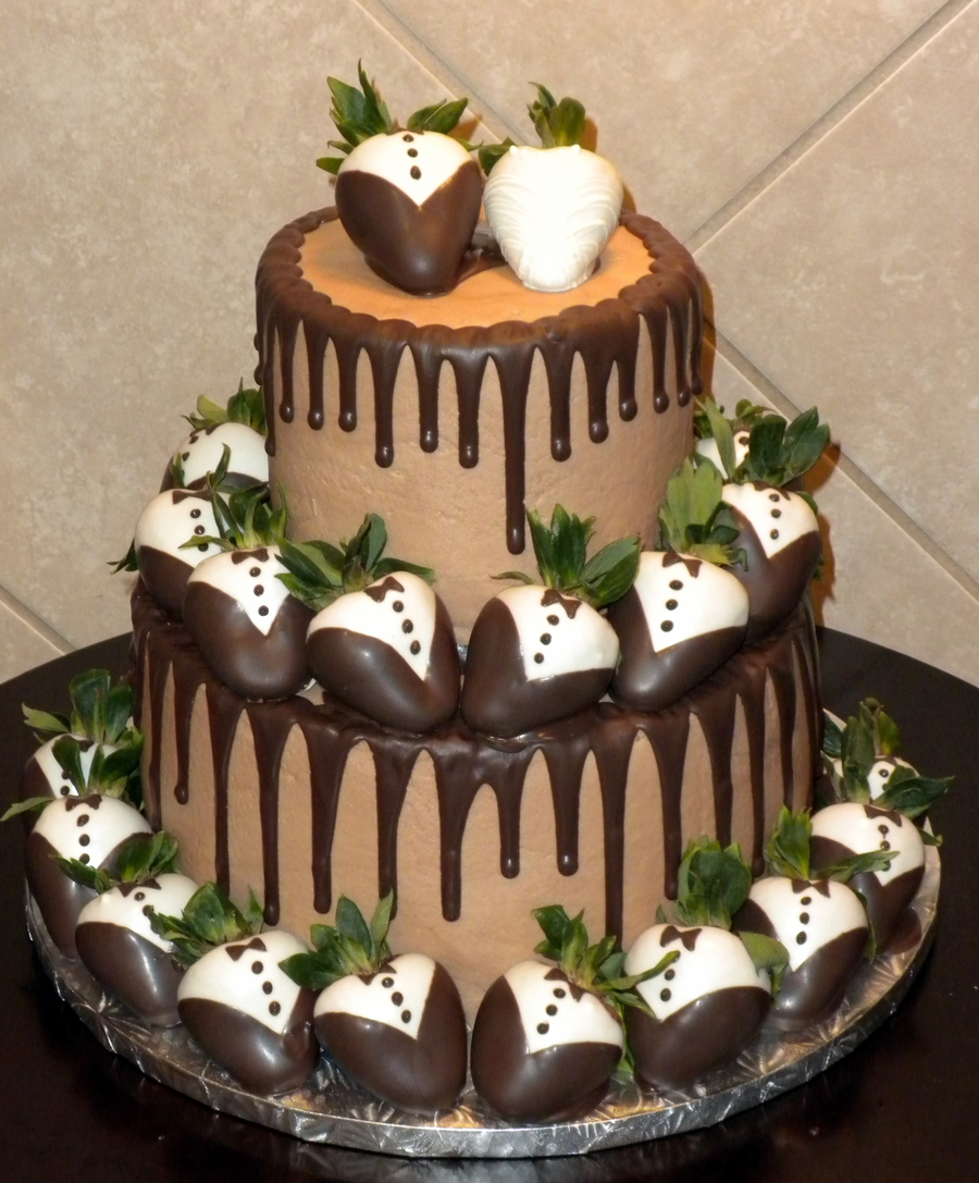 Grooms Cake - Chocolate Covered Strawberries on Cake Central