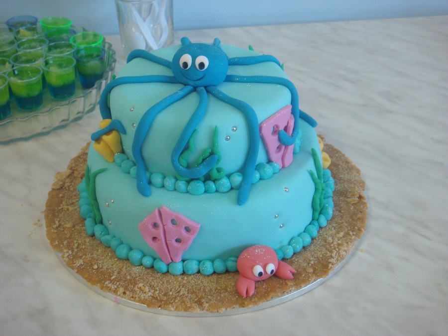 Octopus Birthday Cake on Cake Central