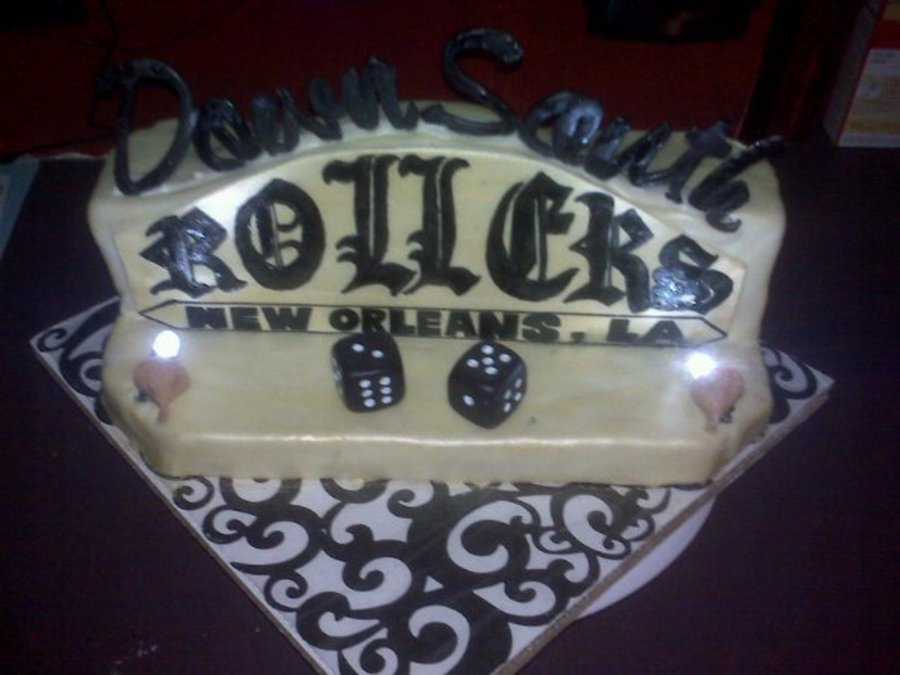 Down South Rollers Car Club Cake on Cake Central